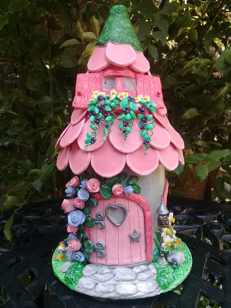 'Rose Cottage' Fairy House Night Light