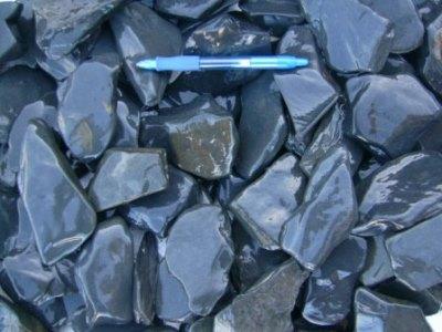 Black Slate Pebbles. Picture courtesy Stone & Bark www.msnb.co.za/index.php